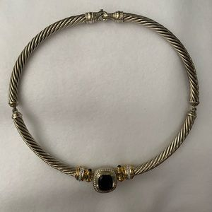 Sterling Silver 10K Albion Cable Choker